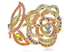 Exquisite Design Spring Multi Color Beads Flower Leaf Chunky Bangle Bracelet New