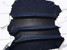 LEDER TIP 30977-X, Lederreste, 1 Lederhaut, dunkelblau perforiert