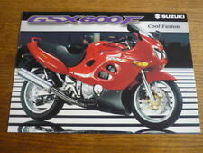 SUZUKI GSX 600F MOTORBIKE BROCHURE, 1997/98 -  POST FREE (UK)