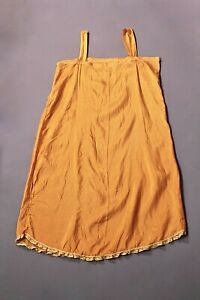 VTG Women's 20s 30s Orange Slip / Nightgown Sz S 1920s 1930s