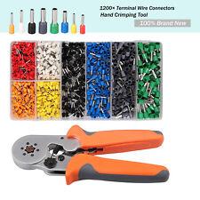 Crimp Tool Kit Crimper Plier Wire Terminal 0.25-6mm² & 1200* Connectors Terminal