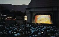 Lake George NY GASLIGHT VILLAGE Theater At Night MINT Dexter Press postcard A95