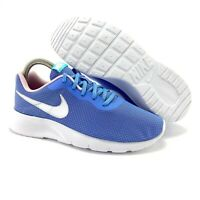 Nike Youth Girl's Tanjun Royal Pulse White Pink Foam Running Shoes (GS)