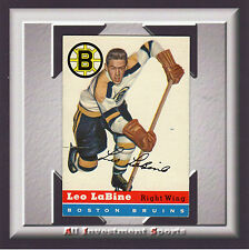 1954 Topps LEO LABINE #19 VG-EX *gorgeous hockey card for your set* SD