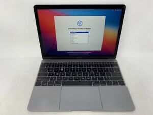 MacBook 12 Space Gray Early 2015 1.3GHz M 8GB 512GB SSD - Fair Condition - READ