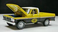 1972 Ford F-100 1/64 Scale Rare Diecast Diorama Car Pennzoil Truck Yellow