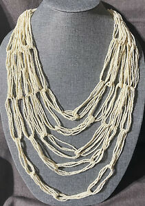 Ink+Alloy Multi Layer Seed Bead Necklace