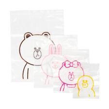 Korea LINE Friends Brown Cony Choco Sally Travel Zipper Bag Set Gift Mascot L523