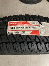 4 New P 245 75 16 Firestone Destination A/T Tires
