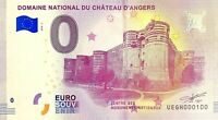 BILLET 0  EURO DOMAINE NATIONAL DU CHATEAU D'ANGERS  FRANCE   2018  NUMERO 100
