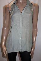 CROSSROADS Brand Sage Green Lace Insert Sleeveless Shirt Top Size 8 BNWT #TP44