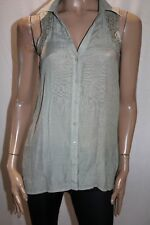 CROSSROADS Brand Sage Green Lace Insert Sleeveless Shirt Top Size 8 BNWT #TP44
