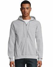 Hanes Full Zip Hoodie Sweatshirt ComfortBlend EcoSmart Long Sleeve Pocket Plain