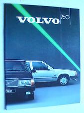 Prospekt Volvo Serie 760 GLE kat, GLE Turbodiesel, 1987, 38 Seiten für Schweiz