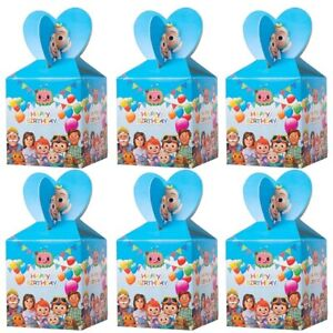 12Pcs Cocomelon Candy Gift Boxes Party Supplies Favor Kids Filler Gift Box