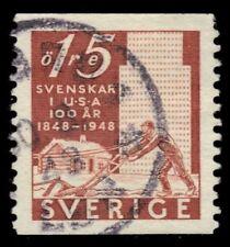 "SWEDEN 400 (Mi340A) - Pioneer Settlement ""Plowman and Buildings"" (pf58197)"