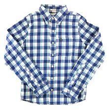 Abercrombie & Fitch Mens Shirt Plaid Woven Button Front Holes Damaged Medium