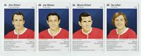 GUY LAFLEUR, JEAN BELIVEAU, MAURICE & HENRI RICHARD Hockey Game Cards RARE