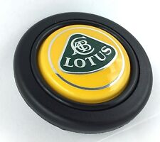 Lotus logo steering wheel horn push button. Fits Momo Sparco OMP Nardi Raid etc