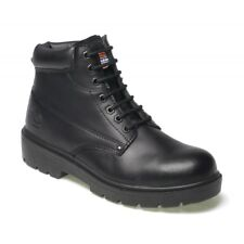 DICKIES ANTRIM LEATHER SAFETY WORK BOOT STEEL TOE CAP BLACK SIZES 7-12 FA23333