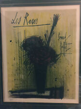 "BERNARD  BUFFET ORIGINAL LITHOGRAPHE LIMITED EDITION, FRAMED ""LES ROSES"""