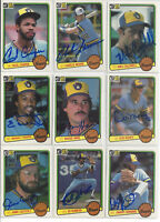 (9) 1983 Milwaukee Brewers signed cards Donruss AUTO lot Cecil Cooper M Edwards