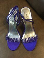 Women's Ste'phanie Purple Stiletto Heels With Purple Bling  Size 6 NWOT SEXY