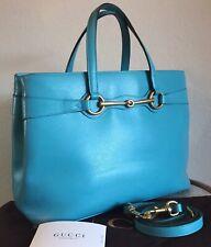 Gucci Cellarius Bright Bit Handbag Turquoise Blue Top Handle 2 Way Shopper Tote