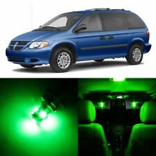 20 x Ultra Green Interior LED Lights Package For 2001- 2007 Dodge Caravan +TOOL
