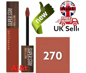 Maybelline SuperStay Coffee Edition high pigmentation Lipstick Shade 270