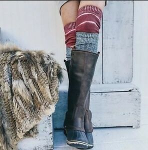 GORGEOUS SOREL Slimpack RIDING BOOTS NUTMEG BROWN Rain/Snow Waterproof Boots 7.5