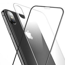 For Apple iPhone X Full Cover Soft Edge 9H Tempered Glass Screen& Back Protector