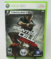 TOM CLANCY SPLINTER CELL: CONVICTION GAME FOR XBOX 360, CASE, GAME DISC & MANUAL