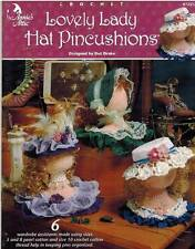 Lovely Lady Hat Pincushions Thread Crochet PATTERNS Stylish Boutique Organizers