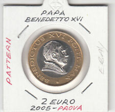 VATICAN VATICANO 2 EURO FDC 2005  PATTERN-ESSAI-PROBE-PROVA-PROTOTYPE-SPECIMEN