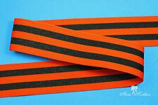 "6 yards 3/8"" Halloween Black Orange Stripes Woven Grosgrain Ribbon"