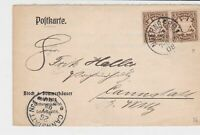 bavaria 1908 stamps card ref 20587