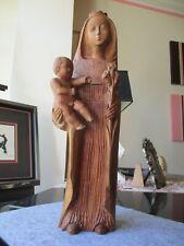 geschnitzte Madonna&Jesuskind, schöner Gesichtsausdruck, 52 cm, tolle handarbeit