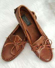 RALPH LAUREN Polo Country Brown Leather Casual Boat Shoes Women's Size 9.5