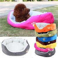 Soft Indoor Pets Dog Cat Puppy Bed Warm Sofa House Mat Nest Cushion Fleece