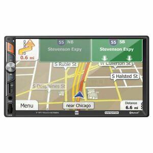 Dual 7? 2 Din MECHLESS Digital Media Receiver with Built-in Navigation - DM620N