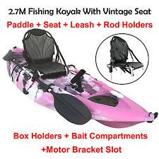 2.7M Fishing Kayak Single Vintage Seat Chair Armchair Paddle Pink Camo