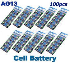 100 x AG13 LR44 SR44 L1154 357 Batterie Alcaline A76 Pulsante Celle Orologio Macchina fotografica