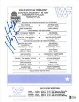 HULK HOGAN Signed 1988 WWF Wrestling Lineup Rosemont Horizon Sheet WWE BECKETT