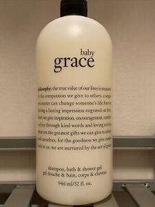 New Philosophy Baby Grace Shampoo Shower Gel Bubble Bath  32 oz Sealed