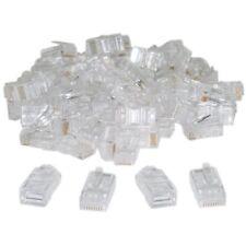 100 pezzi per borsa, RJ45,8P8C, CAT 5 connettore a crimpare trasparente F2C D8I0