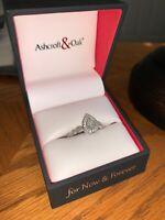14 Karat White Gold Pear Shaped Diamond Engagement Ring