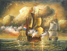 CHENPAT737 100%  hand painte big sea war sail boat ocean oil painting art canvas