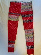 Victoria's Secret Defect Thermal Pants L Large Red Multi Seam Split Sleep Lounge