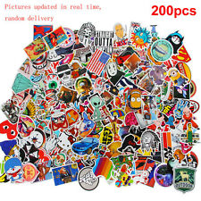 200x Random Waterproof Stickers Skateboard Graffiti Luggage Car Decals Mix Lot